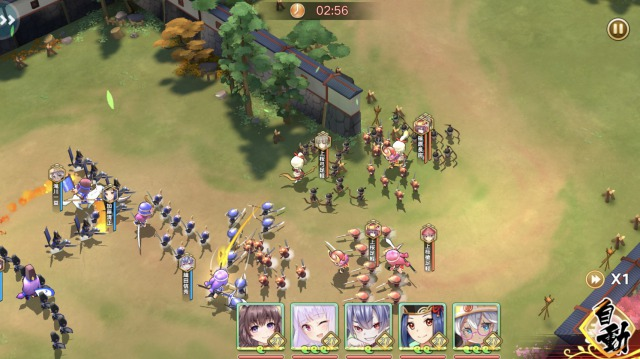 戦国少女-合戦
